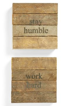 These are very neat- maybe for my office. 'Stay Humble' Wall Art (2-Pack) available at #Nordstrom
