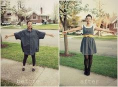 Refashion a men's button up shirt into a sweet little summer dress. - Click image to find more DIY & Crafts Pinterest pins