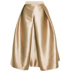 TIBI Halcyon Taffeta Full Skirt (£355) ❤ liked on Polyvore featuring skirts, bottoms, gold, юбки, full skirt, tibi skirt, brown skirt, taffeta skirt and tibi