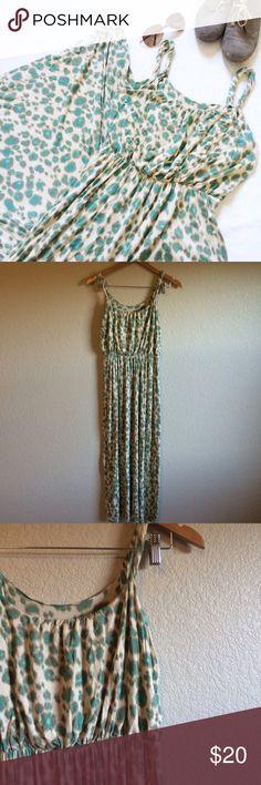 LOFT • Dress This beautiful maxi dress has twisted straps and a colorful print. LOFT Dresses Maxi