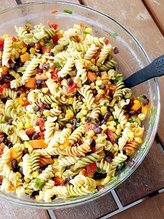 11 Pasta Salad Recipes You Need in Your Life this Summer | MEXICAN | Take whatever steak, chicken or other protein you have leftover from last night's grilling, slice it up and throw it in this festive south-of-the-border salad.Get the recipe HERE.