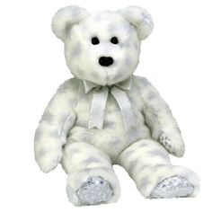Ty Beanie Buddy The Beginning Bear with Stars Retired