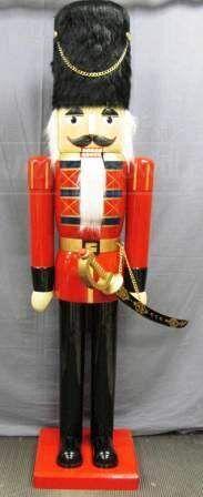 shopgoodwill.com: Lifesize 6-Ft. Wooden Soldier Nutcracker Statue