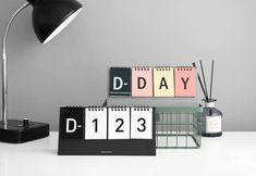 Excited to share the latest addition to my #etsy shop: D-Day Calendar / Stand D-day Calendar / Baby Shower Gift / wedding / diet / Planner / Diary / Agenda / Journal / Bullet Journal  #papergoods #calendar #white #ddaycalendar #standcalendar #babyshower #paper #steel #dubudumo