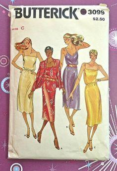 Butterick 3099  Vintage 1970s Womens Dress Pattern by Fragolina, $5.00