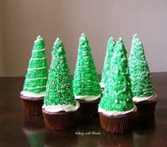 Baking with Blondie : Christmas Tree Cupcakes
