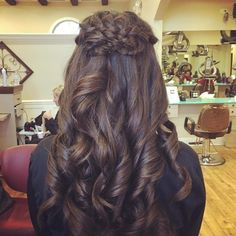 simple fantastic graduation party hairstyle