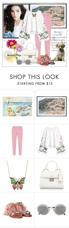"""""""Summer days"""" by frenchfriesblackmg ❤ liked on Polyvore featuring Marmont Hill, Pottery Barn, Mint Velvet and Miu Miu"""