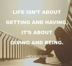 Keep giving and being, don't let the selfishness of others change you x