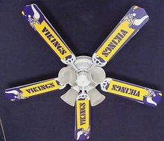 How could you say no to this #Vikings ceiling fan! Oh my. For the mancave we don't yet have.