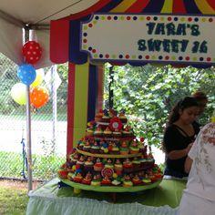 Circus themed Sweet 16