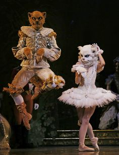 """Puss in Boots and the White Cat in the Texas Ballet Theater's performance of """"The Sleeping Beauty."""""""