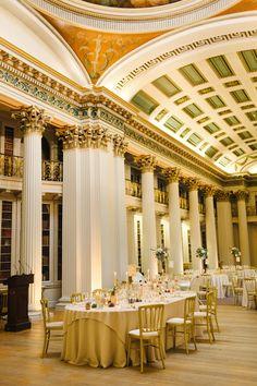 Opulent Romantic Metallics City Library Wedding