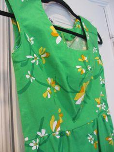Glamour Malia of Honolulu Vintage Green Floral Sundress