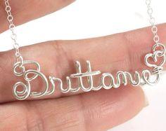 Nome personalizzato collana collana nome di dsignzbyrosie su Etsy