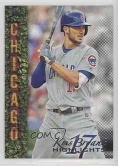 2018 Topps Wal-Mart Highlights Black #KB-9 Kris Bryant Chicago Cubs Card #ChicagoCubs Cubs Cards, Baseball Series, Chicago Cubs Baseball, Babe Ruth, Highlights, Walmart, Baseball Cards, Black, Black People