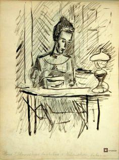 Tadeusz Piotr Potworowski, wybrane rysunki ze szkicownika Peter Potworowski, selected sketchbook drawings