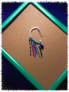 Wire wrapped and beaded ear cuff