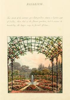 """Rosarium,"" by Humphry Repton (1813)"