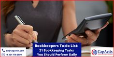 Bookkeeper is the backbone of your business! Your bookkeeper has to perform multiple vital tasks daily to keep your business running smoothly. Just note down the important 21 tasks that your bookkeeping staff has to do daily—without missing. Online Bookkeeping, Bookkeeping Services, Note Down, 21st, Running, Business, Keep Running, Why I Run, Store