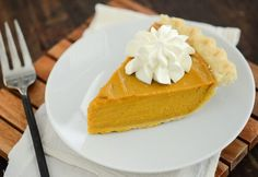 Buttermilk Pumpkin Pie -- recipe from www.thenovicechefblog.com