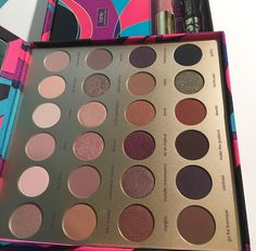New tarte 2016 holiday palette #makeup #tarte #holiday #eyeshadow #fall #matte #glitter