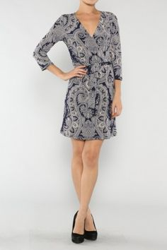 """Surplice Vintage Dress It's a good thing I was born a girl, otherwise I'd be a drag queen."""" #fallfashion #salediemlovesfashion Shipping is FREE!!"""