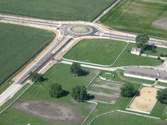 Hunt Club Road & Radsworth Road Roundabout Aerial