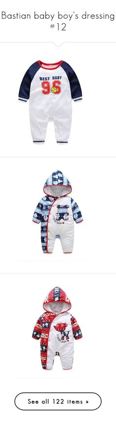 """Bastian baby boy's dressing #12"" by zsugabubus ❤ liked on Polyvore featuring jumpsuits, animal print jumpsuit, red jump suit, long sleeve jumpsuit, red long sleeve jumpsuit, red jumpsuit, intimates, sleepwear, pajamas and long sleeve pajamas"