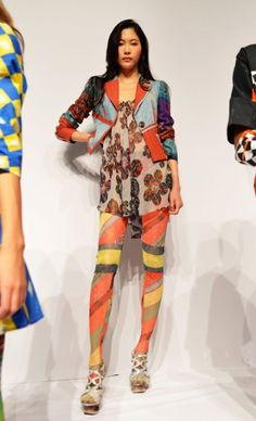 Hosiery is going in some fascinating directions.  Mercedes-Benz Fashion Week : Home