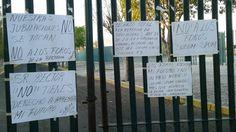 Aproximadamente 60 sindicalizados impidieron el ingreso al CIAC; se oponen a reformar la Ley Orgánica de la UMSNH y el régimen de pensiones y jubilaciones de la Universidad Michoacana – ...