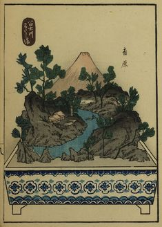 From Utagawa Hiroshige's The Fifty-three Stations of the Tōkaidō, a series of ukiyo-e woodcut prints created in the 1830s