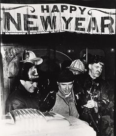 """Weegee, """"Tavern of ground floor of burning building at 80 Greenwich St. is shelter for firemen overcome by smoke New Year's Eve. Customers also had a hot time,"""" 1945"""