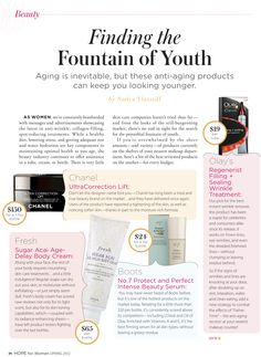 Anti-aging products that can keep you looking younger.