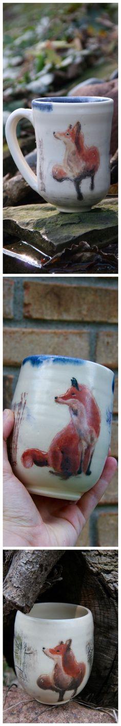 Buy now on Etsy handmade fox pottery