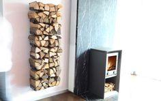 """Moderne Kamin-Accessoires: Fast unsichtbar: Kaminholz-Regal """"Wooden Tree"""""""