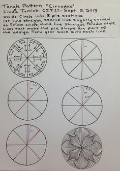 Zentangle - New Pattern - Circadox - Linda Tomich - CZT