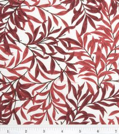 Premium Quilt Fabric-Arts & Crafts Two Color Leaf Red