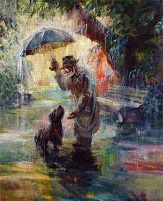 Beauty Things / теплый летний дождь живопись