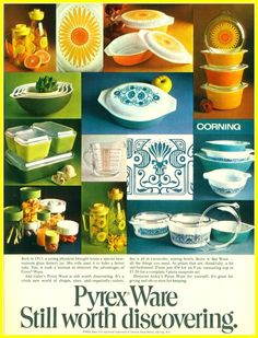 Mary Wald's Vintage Place: Vintage Pyrex Ads are so Colorful