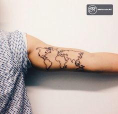 Globe Tattoo - Mang cả thế giới trong tầm tay bạn