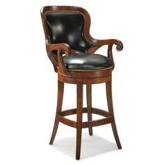 8-10 WEEKS!!! Fairfield Chair Shaped Back Leather Swivel Bar Stool | Wayfair $672