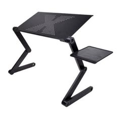 Flexible portable Laptop Notebook desk; Foldable in desk and legs, small in volume, easy to take, easy to use; Desk made of metal with a plastic mouse platform; Legs made of metal with plastic cores Ergonomic sleek design with multi-functional concept; The use of occasions: bed, sofa, table, carpet, meadow, desk, etc. Object: to adults, children, and all the crowd Two black non-slip baffles can prevent the computer sliding; Panel with ventilation holes helps the computer dissipate heat in time. Computer Stand For Desk, Der Computer, Computer Desks, Pc Desk, Laptop Stand For Bed, Computer Mouse, Laptop Tray, Laptop Desk, Notebook Laptop