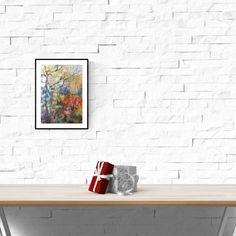 Watercolor Landscape, Watercolor Print, Abstract Landscape, Watercolour Painting, Impressionist Paintings, Abstract Wall Art, Birmingham, Giclee Print, Fine Art Prints
