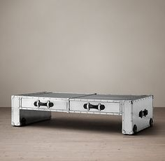 Trans-Atlantic Steamer Parsons Trunk Coffee Table