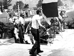 """thelittlefreakazoidthatcould: """" James Dean on the set of Rebel Without a Cause """""""