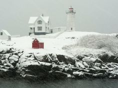 "Cape Neddick ""Nubble"" Lighthouse in York, Maine"