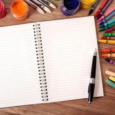 Vista cenital de cuaderno