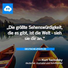 Sieh dir die Welt an und genieße deine Zeit! #bucketlist #zitate