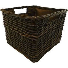 Canopy Handwoven Bookshelf Storage Basket {Wally World} $10 . . . I think switching your baskets to a dark brown would really help tie in the couches and simplify the space.